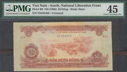 Vietnam South National Liberation Front 50 Dong P-r8 Nd 1968 Pmg 45