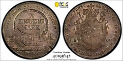 Pcgs Bamberg 1800 Ms 62 1 Thaler Silver City View Coin Germany Very Rare In Unc