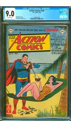 Action Comics 154 Cgc 9.0 Vf/nm Tough 1950and039s Era Nice Off White Pages