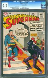 Superman 124 Cgc 9.2 Nm- Very Tough 1958 Era This Copy Is A Real Beauty