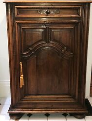 French Walnut Cabinet. Single Cabinet And Drawer. 18th Century
