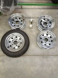 Chromed Steel 5 Bolt 12 X 4 Rim, Denray, Fibro Concept Trailers + Others, Used