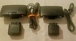 2 - Hum Verizon Vehicle Telematics Obd Readers And Speakers With Charging Cable