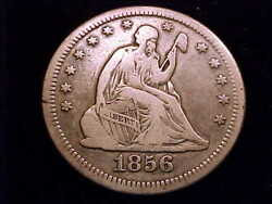 1856-s Seated Liberty Quarter, S Over S Variety, In Very Fine Grade