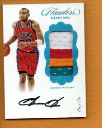 Grant Hill 2016-17 Panini Flawless Vertical Patch Autographs Platinum Auto 1/1