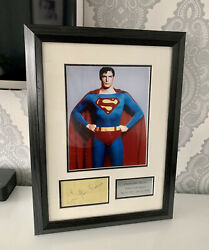 Christopher Reeve Signed Autograph Superman Man Of Steel