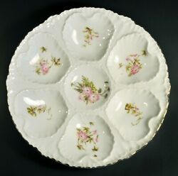 Antique 1891-1918 Schmidt And Co Victoria Carlsbad Austria 8 5/8 Oyster Plate