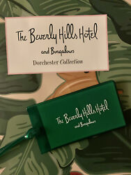 Beverly Hills Hotel Luggage Tag Green