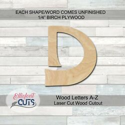 Wood Letter Laser Cut Wood Cutouts A-z Wood Letters 1/4 Thick Baltic Birch Wood