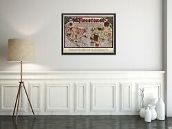 Map Of Firestone | Vintage Map | Vintage Map Reproduction | Vintage Wall Art | R