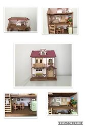 Calico Critters Sylvania Family Huge Lot