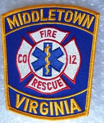 Patch- Middletown Virginia Fire Rescue Co 12 Us Police Patch New