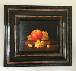 """Oil On Canvas Jean-claude Chauray """"les Trois Chasselats"""", Framed Still Life"""