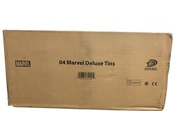 2004 Marvel Trading Card Game Deluxe Collector Tins And Game Cards Case Of 12