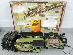Keystone Limited G Scale U.s. Army Complete Train Set - Very Good Condition