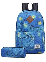 ODTEX School Backpack Van Gogh Backpacks for Boys and Girls Canvas Book Bag $34.99