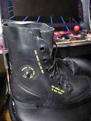 U.s G.i. Mickey Mouse Boots Bata 10 R Black, New A1 Normally Fits Size 11 Shoe