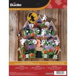 Bucilla Haunted House Wall Hanging Felt Craft Kit-18x18 Inches/46x46 Cm