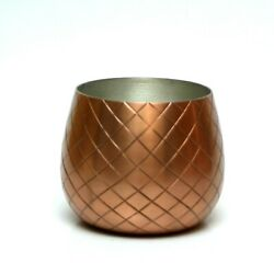 Original Absolut Vodka Elyx Copper Pineapple Glass Cup Cocktail Bottom Only