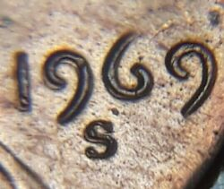 1969 S Lincoln Memorial Cent Obverse