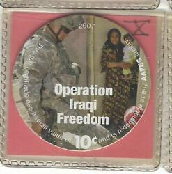 10th Printing Aafes 10 Cent Pog 10d10+ Uncirculated The Ixxq And Afghan Series.