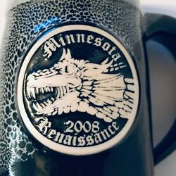 What Cheer Pottery Mn Renaissance 2008 Dragon Signed 'd 12 / 100 Tankard