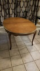 Baker Furniture French Louis Xv Style Vintage Cherry Expandable Dining Table