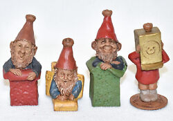 Complete Set Edition 1 Signed Tom Clark Christmas Gift Gnomes G, I, F And T