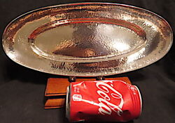 Rare Barbour Silver Co. Sterling Bread Trayhandhammeredhand Wroughthand Made