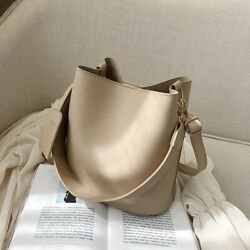Solid Bucket Bags For Women Elegant Classic Crossbody Shoulder Handbag Accessory $59.99