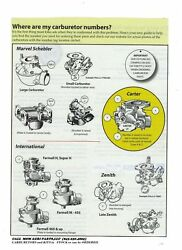 Carburetor Kit And Float Massey Harris 20 22 30 81 82 Colt, Mustang, Pacer Tractor