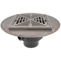 Sioux Chief Pvc Halo Shower Drain W/ Matte Stainless Steel Ring - Square