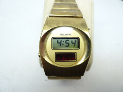 Helbros Red Led Lcd Dual Display Vintage 1974-1976 Watch Runs Made In Usa Rare