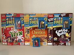 Pez Cereal Box Lot Of 4 Vintage Dispensers Empty Boxes