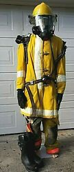Structural Firefighting Bunker Gear Globe Morning Pride Scott Rescue Display