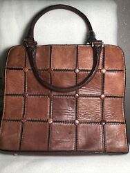 Vintage Women#x27;s Brown MC Marc Chantal Leather Purse Handbag $26.99