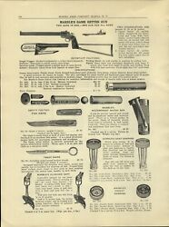 1930 Paper Ad Marble's Game Getter Gun Folding Stock Three In One 3 In 1 Oil