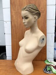 Beautiful Vintage Womanand039s Display Mannequin Head And Torso Female Rare