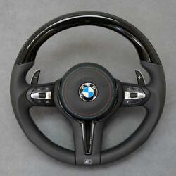 Bmw F10 F06 F12 F30 F32 F36 Piano Black Wood And Leather Steering Wheel Complete