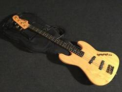 Moon Jj-175 Nat 4 String Natural Electric Bass Guitar With Soft Case