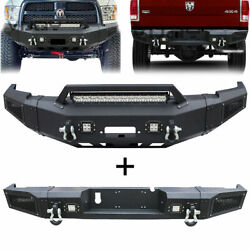 Vijay Front/rear Bumper With Winch Plate+light For 2010-2018 Dodge Ram 2500/3500