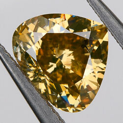 Loose Natural Diamond Heart Shape Igi Certified And Sealed Orangy Yellow 1.07 Ct