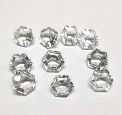 Natural Crystal Quartz Faceted Cut Hexagon Shape Loose Gemstone 16mm To 20mm