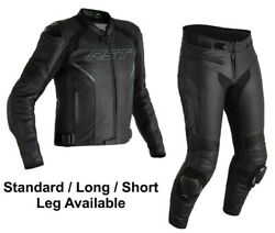 Rst Sabre 2021 Motorcycle Sports Ce Leather Jacket/trousers 2pc Black/black