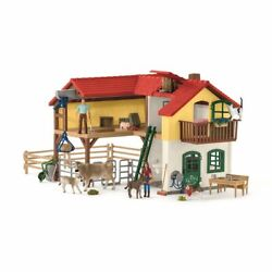 Schleich Far World Farmer House With Stall And Animals Toy Farm From 4 J
