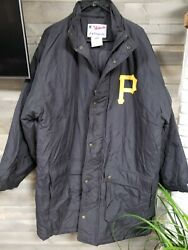 Mlb Pittsburgh Pirates Hooded Coat High Quality Majestic Wears Xl