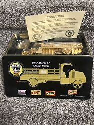 1927 Mack Ac Kent Feeds Stake Truck First Gear 24k Gold Plated 75 Years Rare
