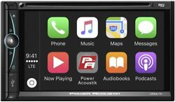 Power Acoustik 2-din 7 Touchscreen Cd/dvd Player Usb Apple Carplay Android Auto