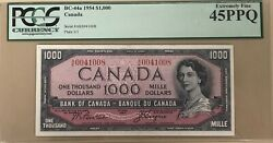 1954 Bank Of Canada 1000 Banknote Pcgs Extremely Fine 45 - Catbc-44a - Sale