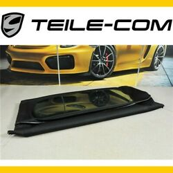 Porsche 987 Boxster Hood Covering + Glass Plate Black/convertible Top Covering